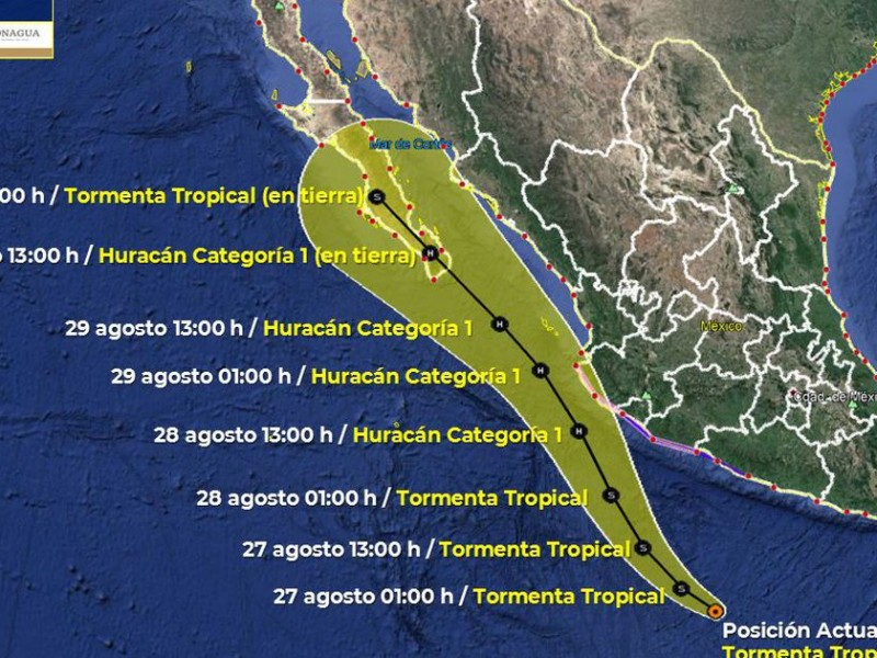 'Nora' se acerca a Jalisco