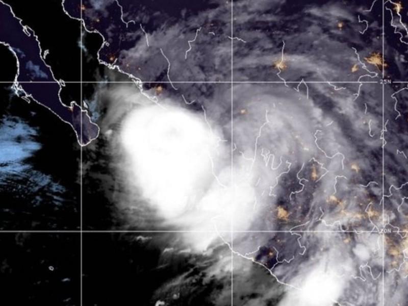 'Nora' se degrada en Sinaloa, trae mucha lluvia