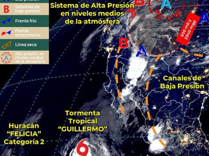 Nubados y lluvias para Sonora, pronóstico para este lunes