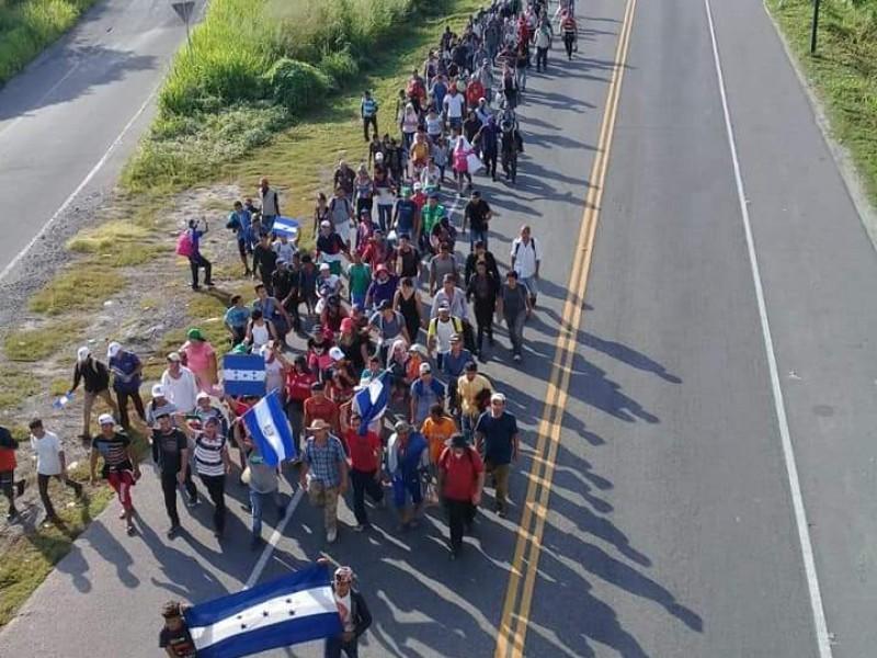 Nueva caravana de centroamericanos llega a Chiapas