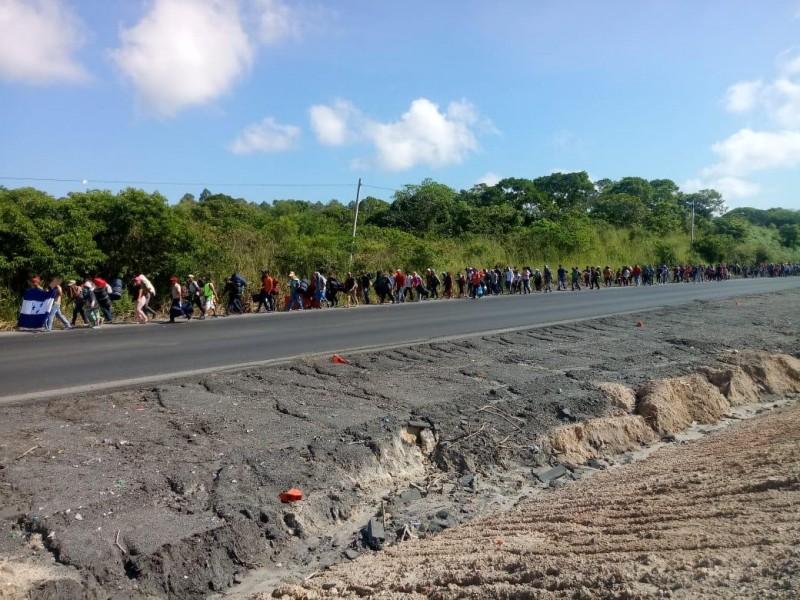 Nueva caravana de migrantes ingresa a Veracruz
