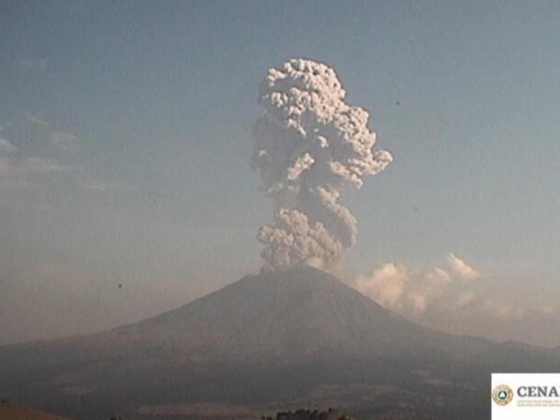 Nueva explosión en el Popocatépetl: PC