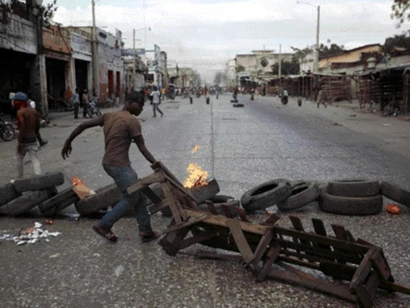 Nueva jornada de protestas violentas en Haití