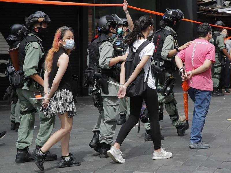 Nueva ley en Hong Kong, protestas y arrestos