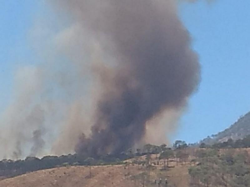 Nuevamente incendio en el cerro de San Juan