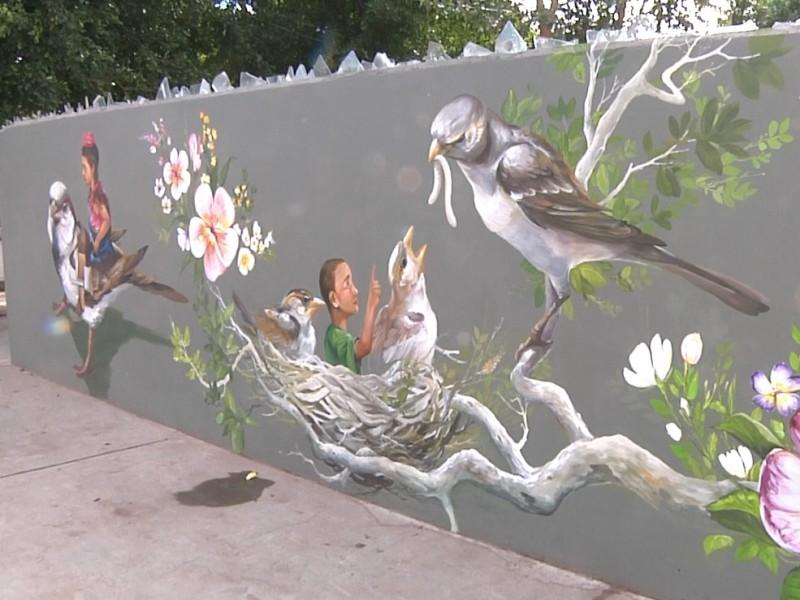 Nuevas aves en Cócorit, sigue proyecto de murales