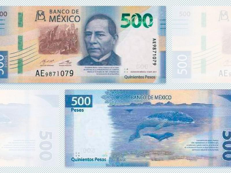 Nuevo billete de 500  tiene a Benito