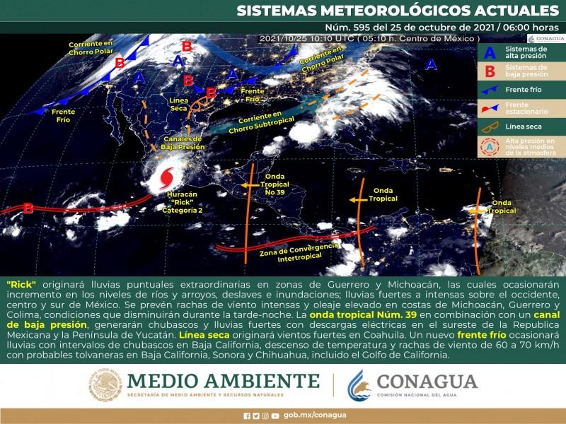 Nuevo frente frio con vientos se aproxima a Sonora