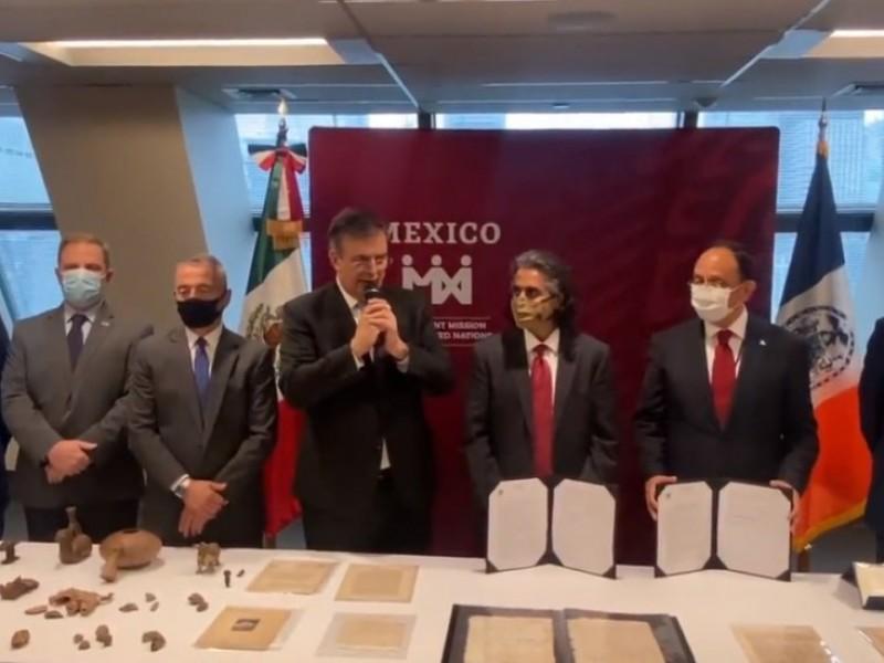 NY entrega a México patrimonio nacional sustraído ilegalmente