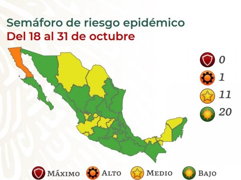 Oaxaca inicia segundo periodo epidemiólogo de octubre en semáforo verde