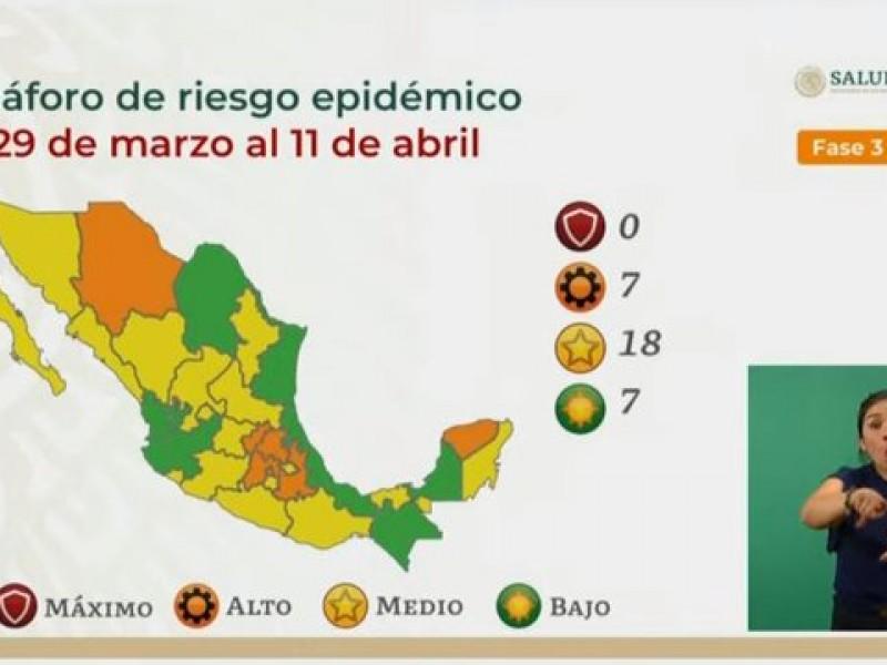 Oaxaca pasa a semáforo amarillo este lunes