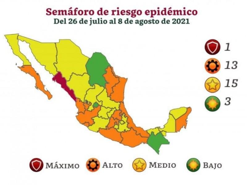Oaxaca pasa a semáforo naranja este lunes 26