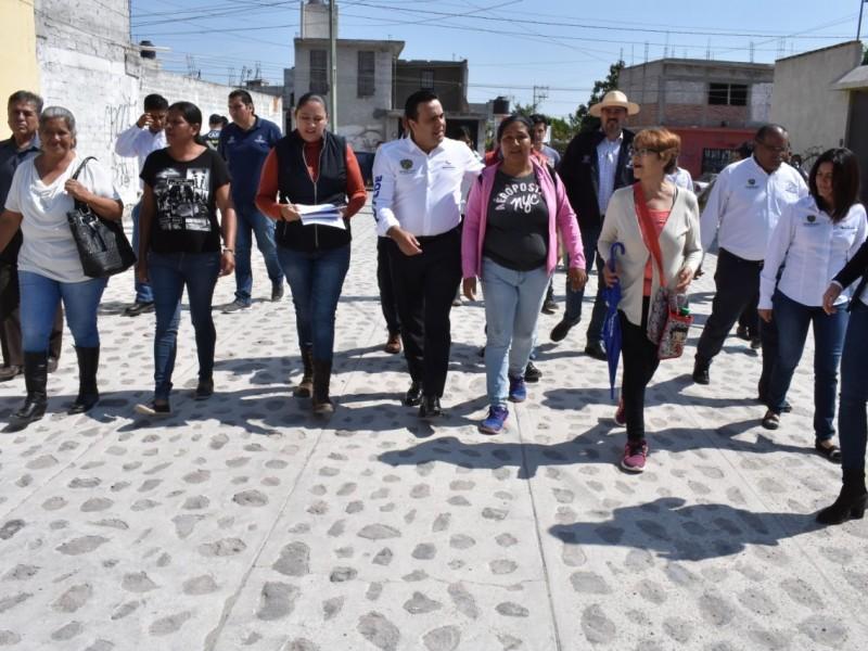 Obras de urbanización para colonia Fernando de Tapia