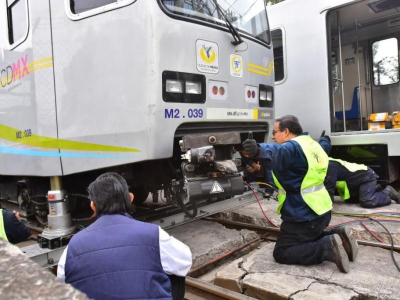 Obras del Tren Ligero con avance del 58%