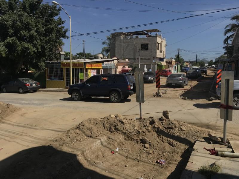 Obras en colonia 4 de marzo están causando caos