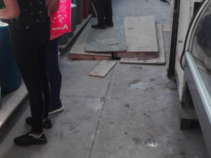 Obras en Descargue Estrella ponen en riesgo a ciudadanos