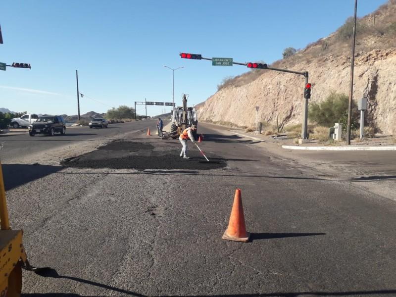 Obras Públicas mejora vialidad en salida sur del puerto