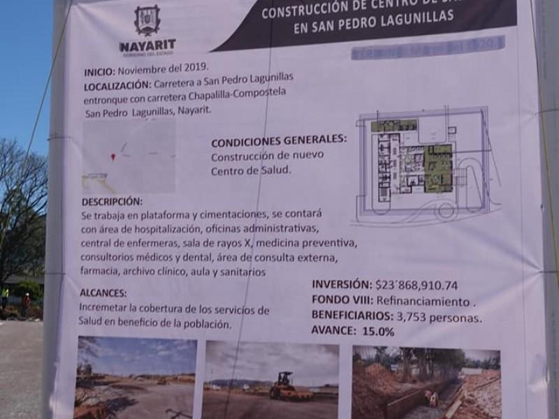 Obra pública, principal reactivador económico en San Pedro Lagunillas