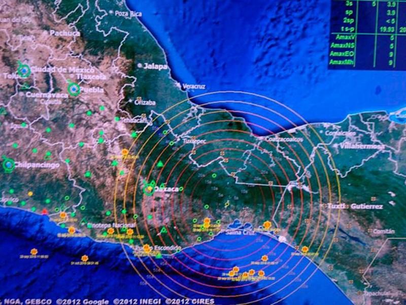 Ocurrió un sismo de magnitud 4.7 en Chiapas