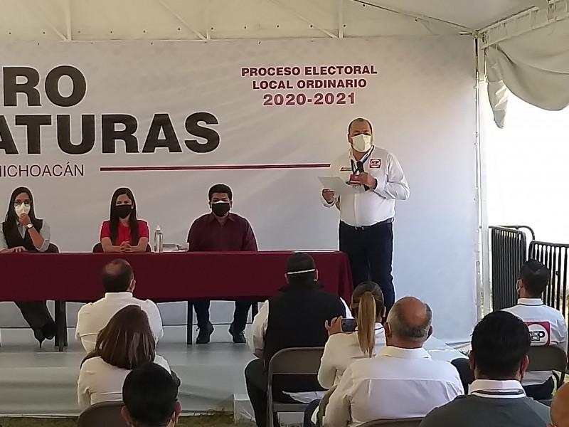 Oficializa Abraham Sánchez de RSP, candidatura a gubernatura de Michoacán