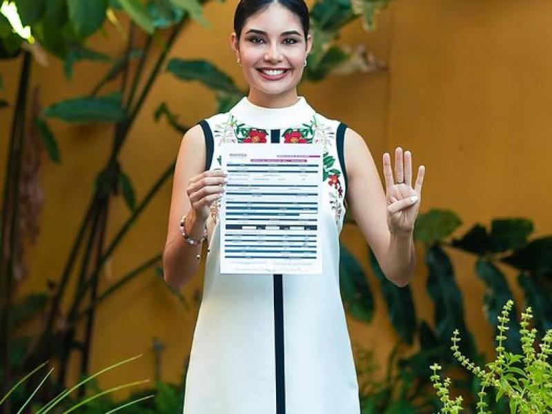 Oficializa Geraldine Ponce precandidatura por alcaldía de Tepic