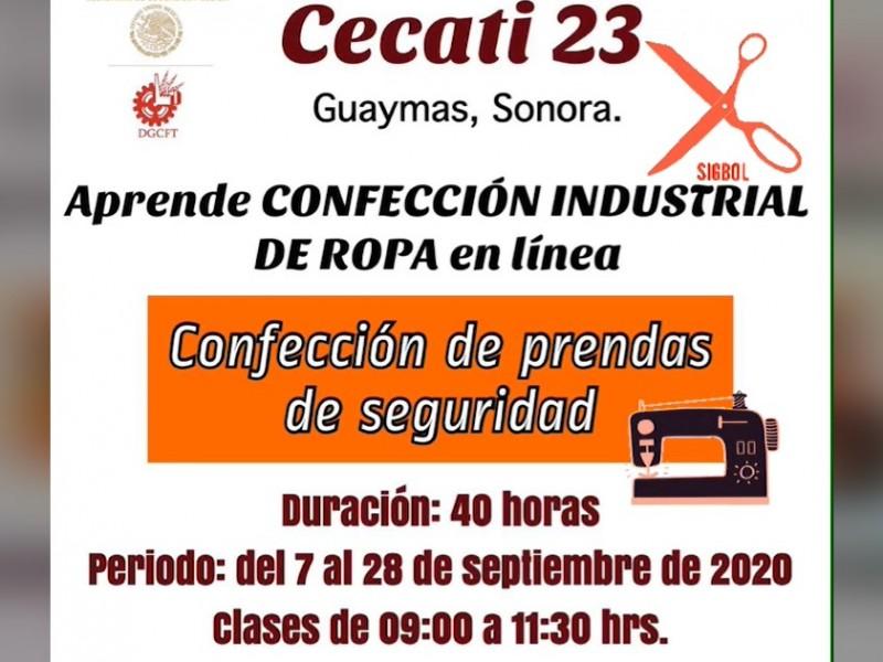 Ofrece CECATI curso en línea de confección de ropa