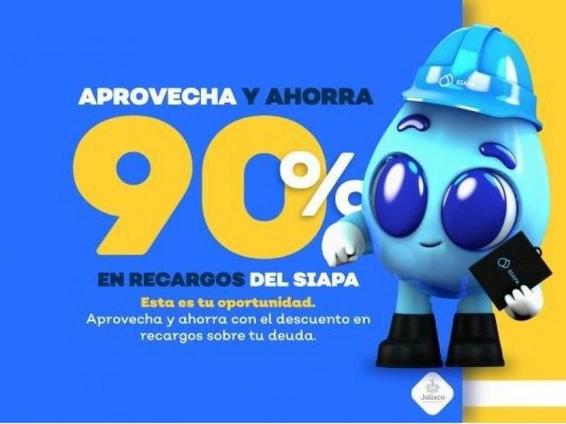 Ofrece SIAPA descuentos del 90 y 75% en pagos atrasados