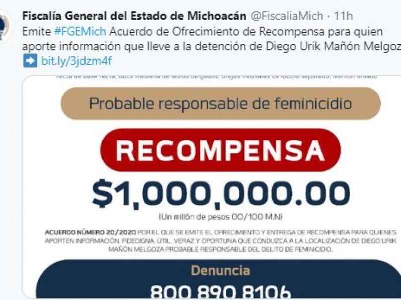 Ofrecen 1mdp para detener a presunto feminicida de Jessica González
