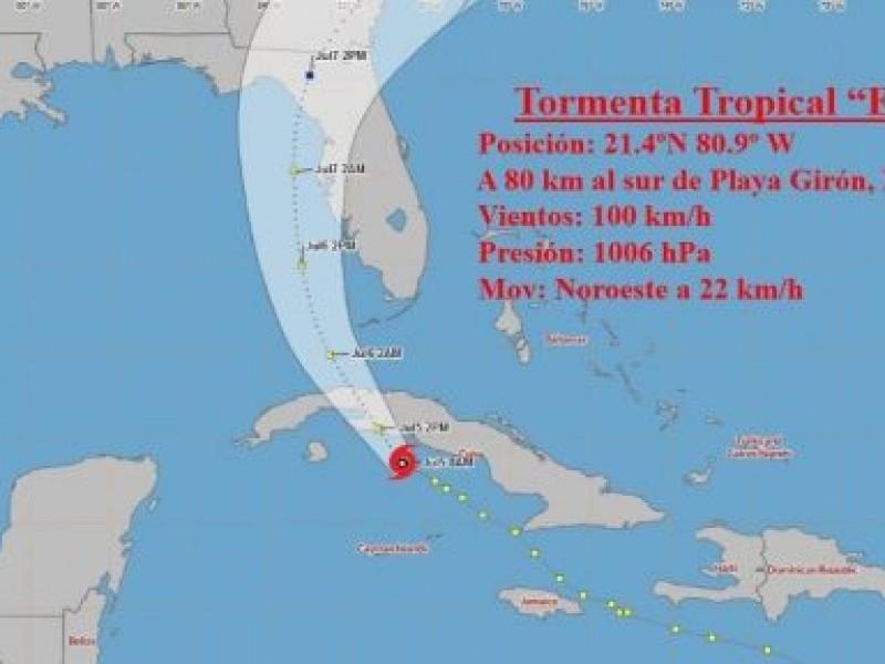 Ojo de la tormenta tropical