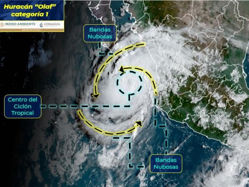 Olaf se intensifica a huracán; continúa acercándose a BCS