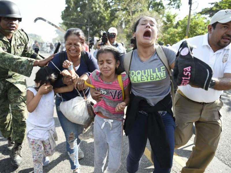 Oleadas del tsunami migratorio en la frontera sur de México