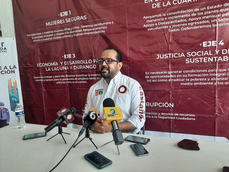 Omar Castañeda presenta 5 ejes de su plataforma política