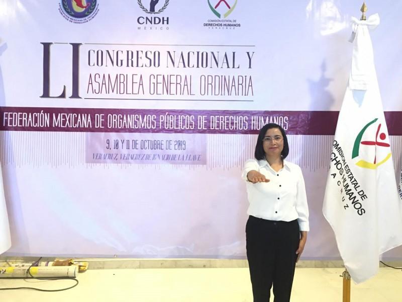 Ombusperson zacatecana representante de organismos del país