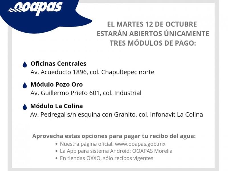 OOAPAS trabaja por guardias este martes 12 de octubre