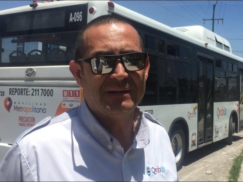 Operadores de Qrobus trabajan hasta 19 horas diarias