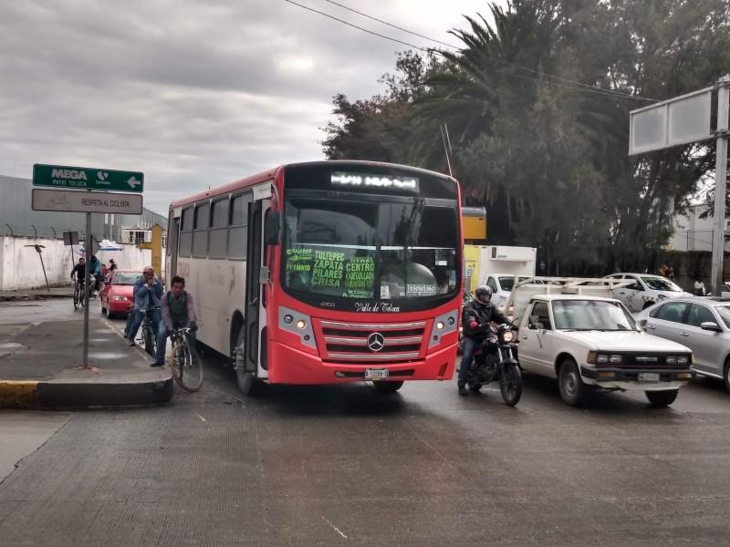 Operadores del transporte público violan medidas preventivas de higiene