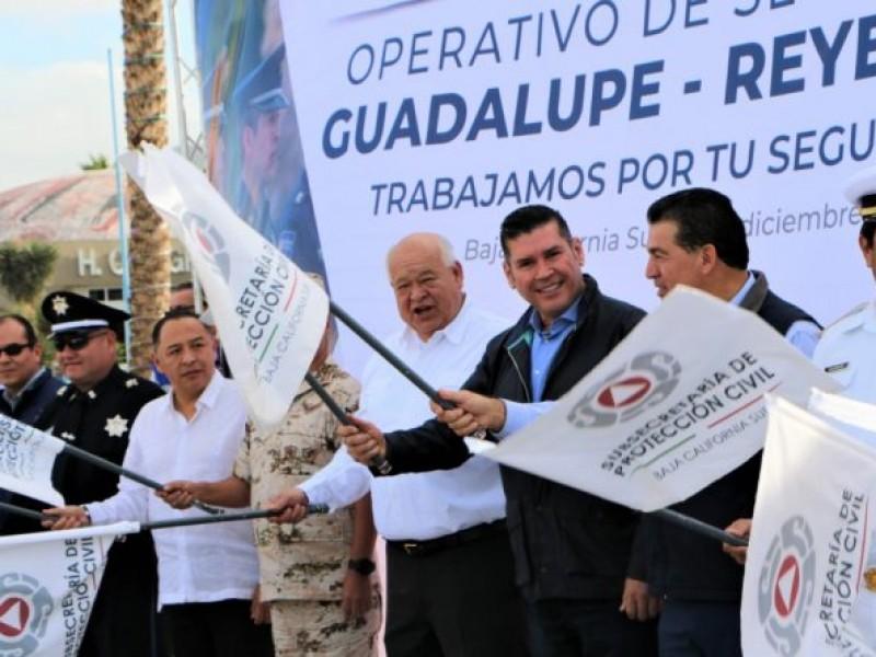 Operativo de seguridad navideño en Baja California