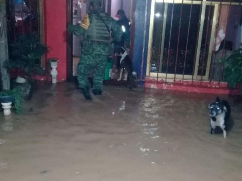 Operativo en Matias Romero por daños de lluvias