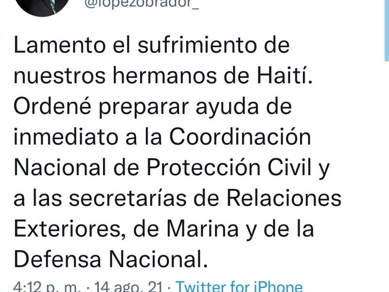 Ordena el gobierno de México enviar ayuda a Haití
