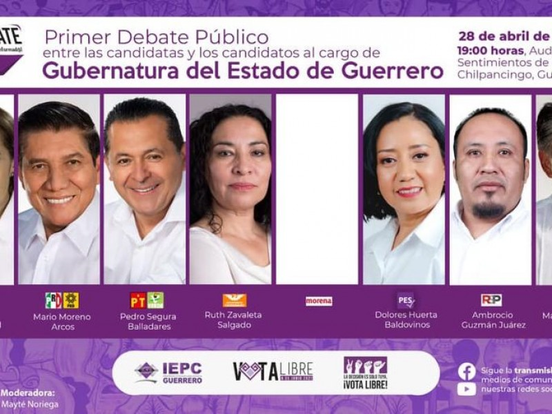 Organiza IEPC debate entre candidatos a gobernador, sin Félix Salgado