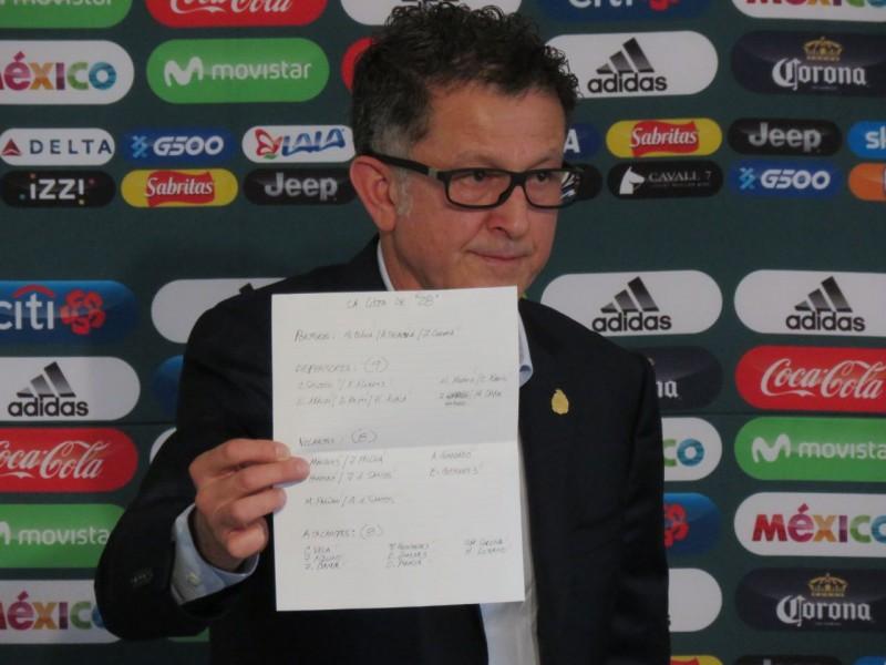 Osorio lanza prelista para Rusia 2018