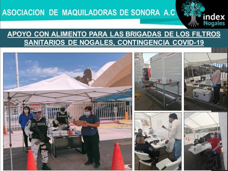 Otorga INDEX Nogales alimentos a personal en filtros sanitarios