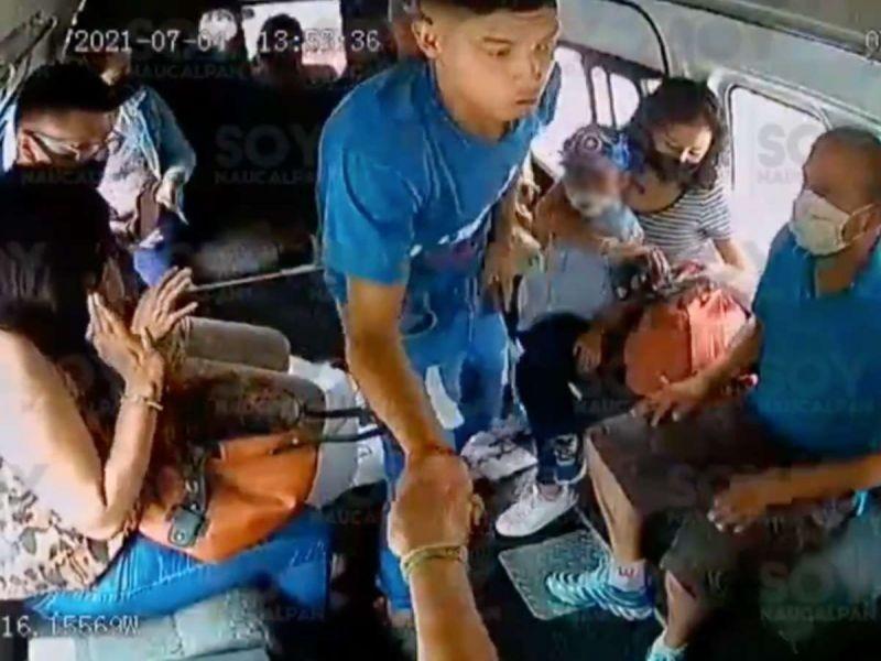 ¡Otro asalto a transporte público en Naucalpan, Edomex!