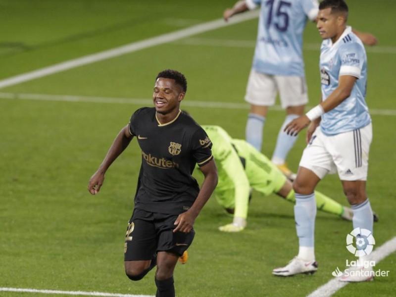 Otro gol de Ansu Fati en goleada del Barcelona