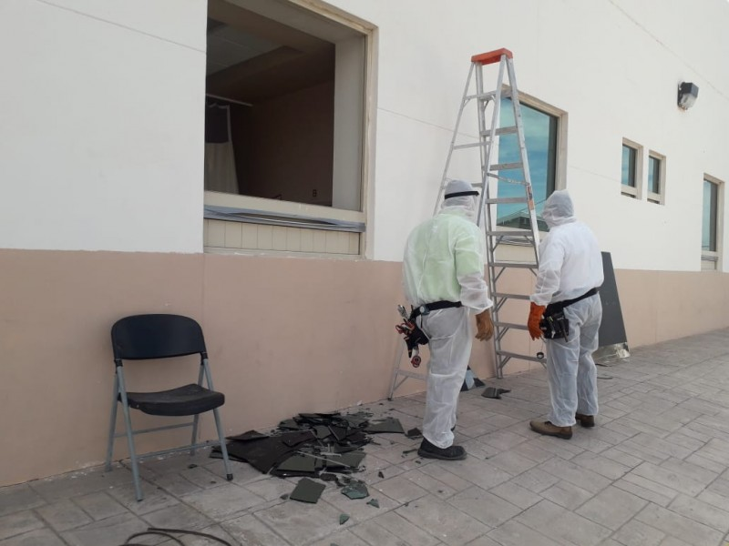 Paciente Covid causa destrozos en Hospital General de Torreón