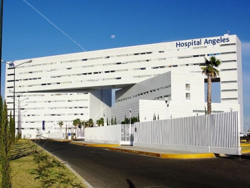 Paciente del COVID-19 aislado en Hospital Ángeles
