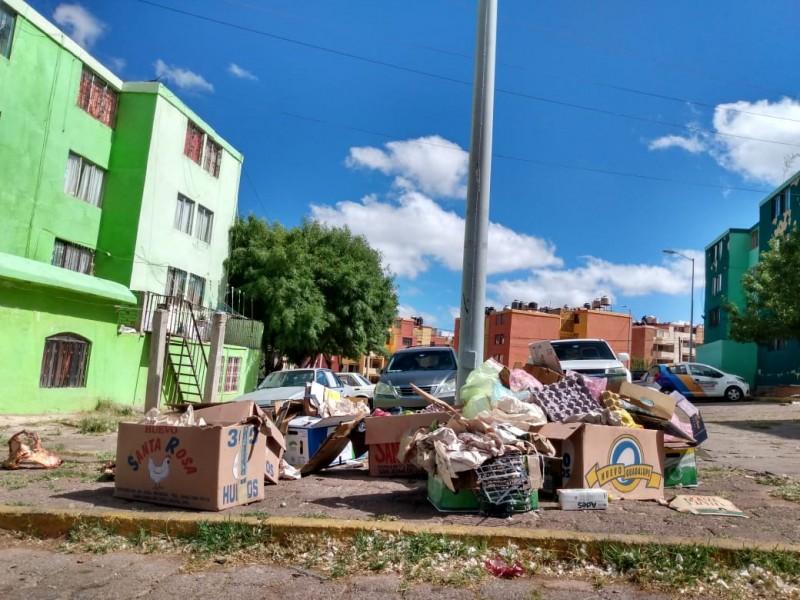 Padecen insuficiente recolección de basura en Guadalupe