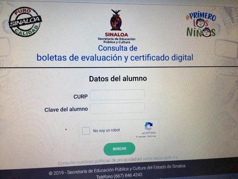 Padres de familia ya pueden descargar boletas y certificado digital