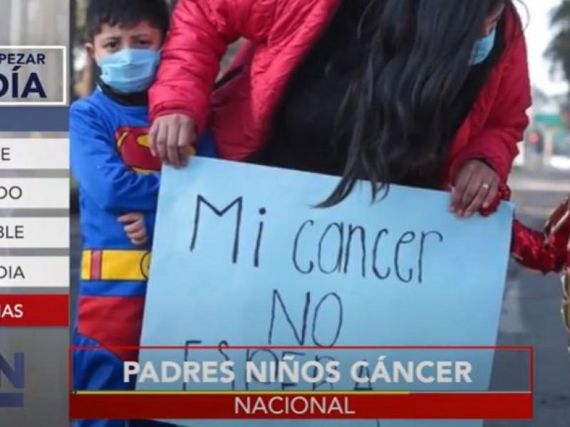 Padres de niños con cáncer llama a paro nacional