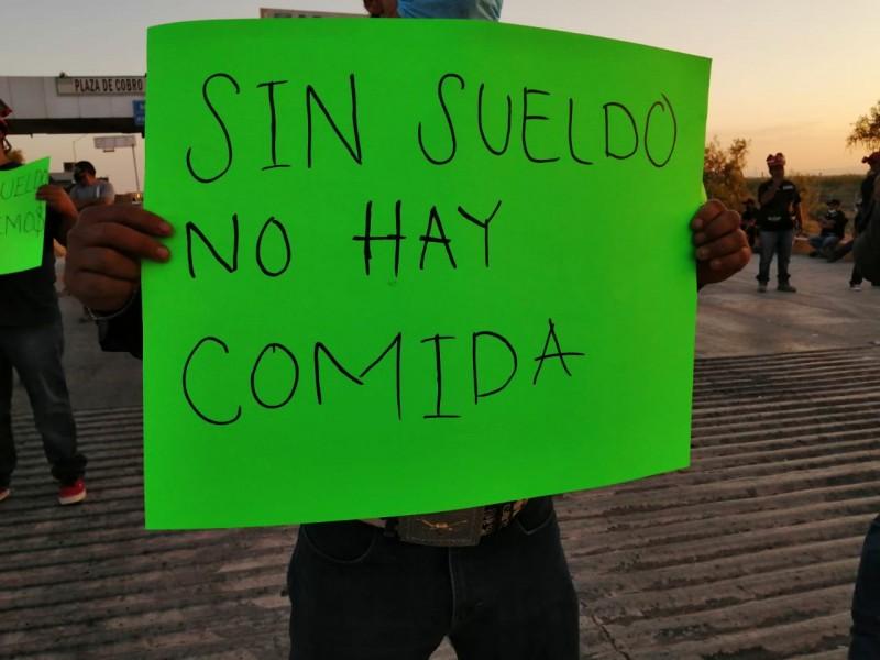 Pandemia obliga a trabajadores a bloquear carretera GP-CD Juarez